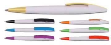 גרביטי לבן, עט כדורי פלסטי פתיחת סיבוב