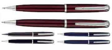 סט רומאו, עט כדורי ועפרון WAVE גוף מתכת