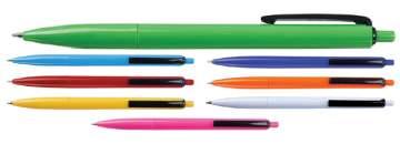 פיקוק, עט פלסטיק כדורי דקה ואלגנטית קליפס שחור