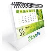 """לוח שנה מלבני, במארז צלופן ניתן לשליחה בדואר עשוי פלסטיק אקרילי 3 מ""""מ מודפס בעיצוב הלקוח"""